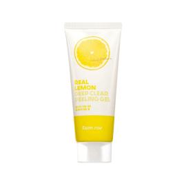 Пилинг-гель с экстрактом лимона FarmStay Real Lemon Deep Clear Peeling Gel - 100 мл, фото 1